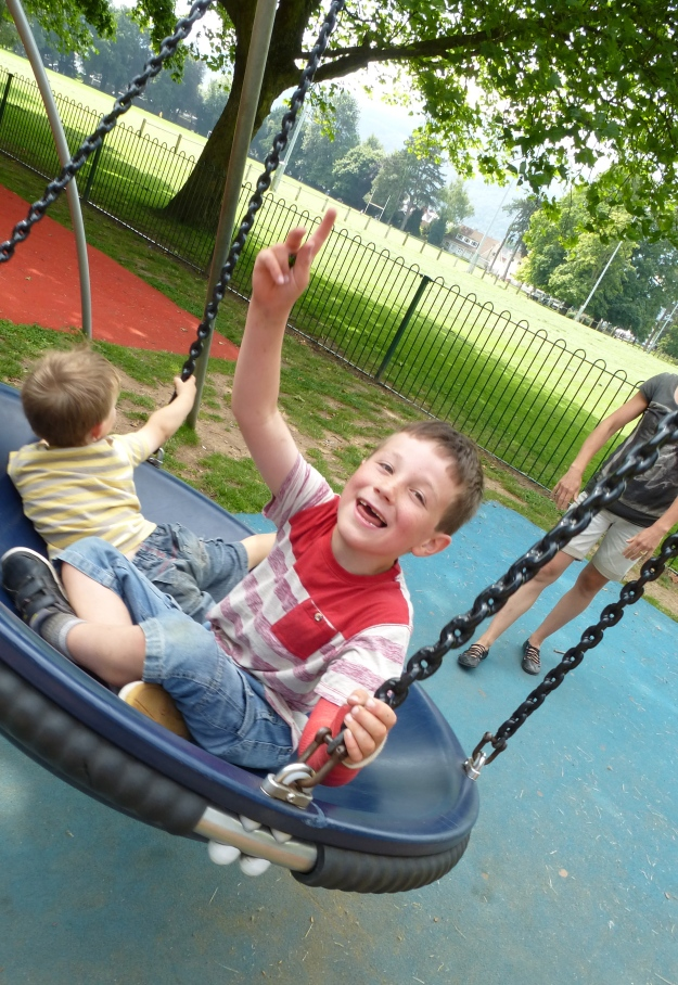 Great park in Abergavenny