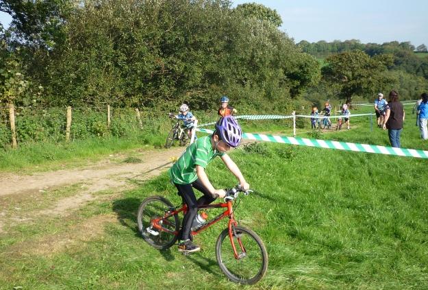 Devon, enjoying the race.