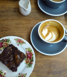 Coffee and cake at the pudding pantry.